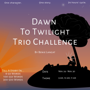 Dawn To Twilight Trio Challenge: 9 am, 10 am, 11 am